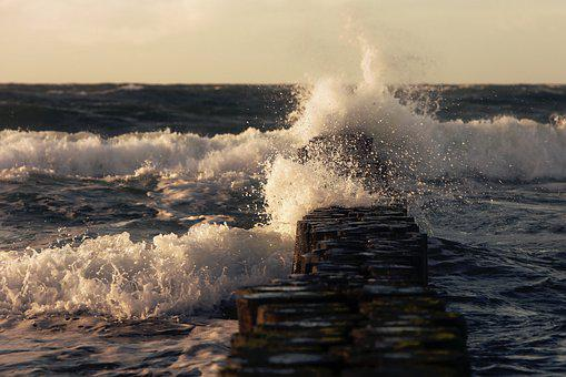 Sea, Baltic Sea, Groynes, Coast, Wave, Breakwater