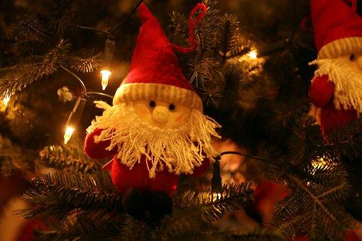Tree, Ornament, Santa, Christmas, Xmas
