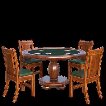 Poker Table, 3d, Render, Cards, Play, Gambling, Casino