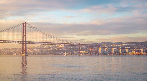 Bridge April 25, Lisbon, Tejo, Rio, Architecture
