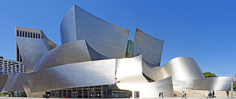 Los Angeles, Disney Hall, Architecture, Aluminium