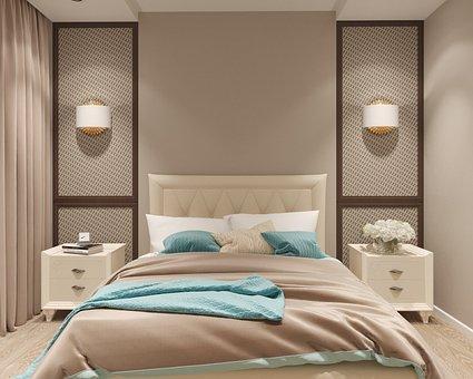 Bedroom, Visualization, Interior Design, Bed, Furniture