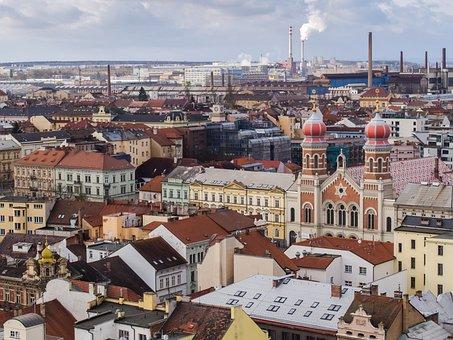 Czech Republic, Pilsen, Synagogue, City, Tourism, Beer
