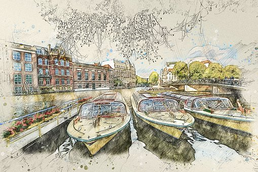 Amsterdam, Boats, Netherlands, Canal, River, City