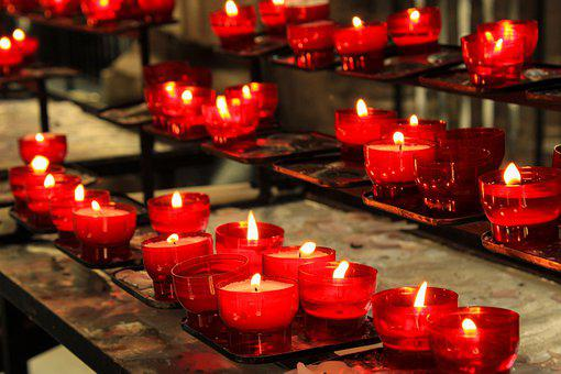 Candles, Candlelight, Faith, Religion, Christianity