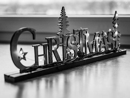 Christmas, Deco, Decoration, Wood, Lettering