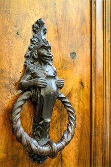 Doorknocker, Antique, Design, Metal, Thumper