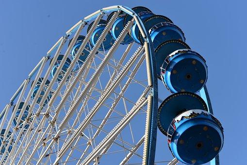 Manege, Wheel, Entertainment, Attraction, Fun, City