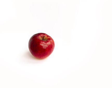 Apple, White Background, Fruit, Healthy, Fresh, Red