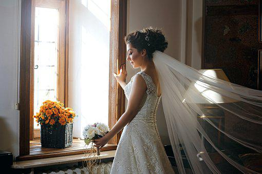 Bridal, Portrait, Woman, Wedding, Dress, Girl, White