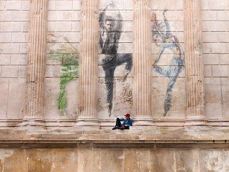 Dancers, Wall, Columns, Style, Street, Ballet, Hip Hop