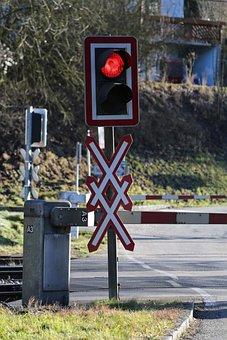 Traffic Lights, Light, Train, Level Crossing, Traffic