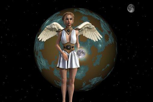 Fantasy, Imaginary, Woman Angel, Magic, Mystic, Compose