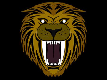 Tiger, Saber Tooth Cat, Roar, Logo, Growl, Mascot