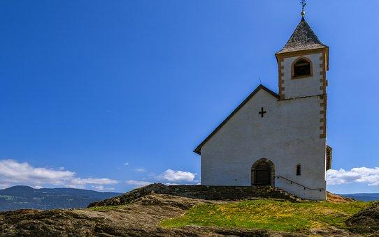Church, Mountains, South Tyrol, St Hippolytus, Meran