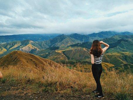 Mountain, Girl, Woman, Trekking, Trek, People, Female