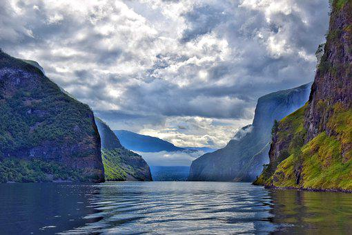 Sognefjord, Fjord, Norway, Nature, Water, Mountains