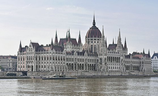 Budapest, Parliament, Side Of The River, Danube