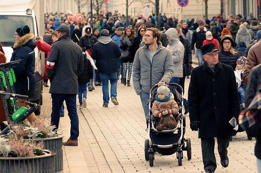 People, The Crowd, Family, The Cart, Child, Small, Men