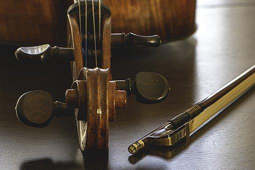 Cello, Bow, Sound, String, Play, Antique, צ'לו, Hair