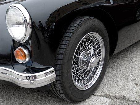 Morris, Car, Classic, Sport, Coupe, Rims, Wheel, Radios