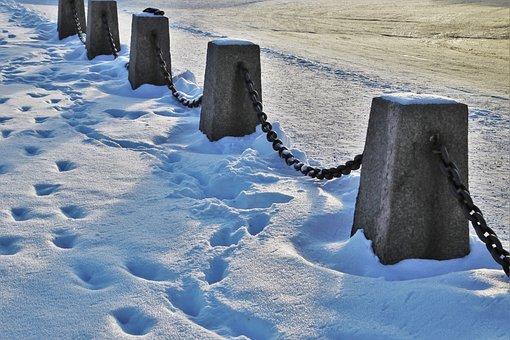 Winter, Railings, Snow, The Prospect Of, Landscape