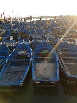 Boats, Fishing, Rest, Boat, Sea, Sunrise, Spring