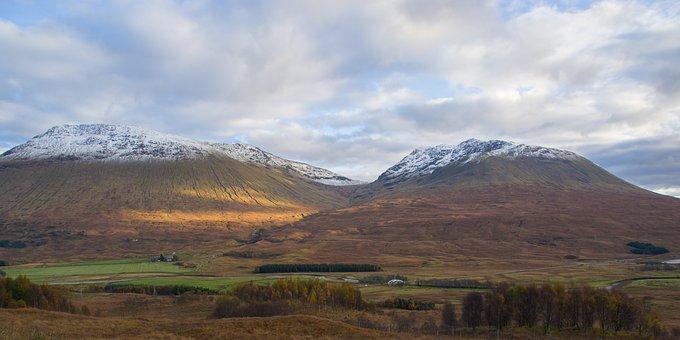 Highlands And Islands, Scotland, Snow, Landscape
