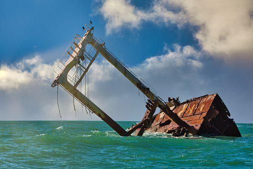 Boat, Ruin, Shipwreck, Sea, Clouds, Ship, Nature, Sky