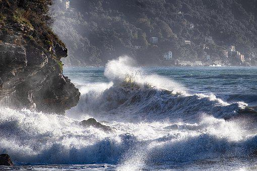 Recco, Liguria, Sea Storm, Italy, Waves, Genoa, Camogli