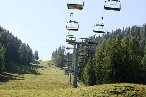 Chairlift, Mountain, Sky, Alpine, Sport, Cable Car