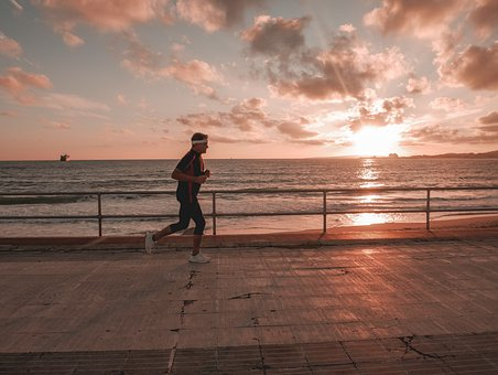 Run, Sea, Sport, Movement, Exercise, Activity, Action