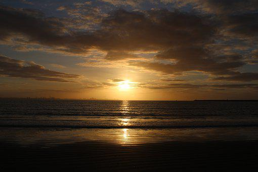 The Port Of Santa Maria, Valdelagrana, Beach, Sunset