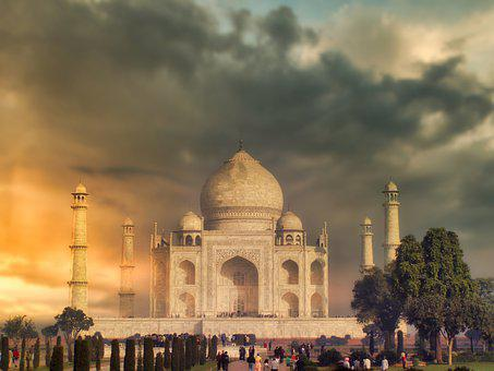 Taj Mahal, Mausoleum, Sunset, Tomb, Landmark