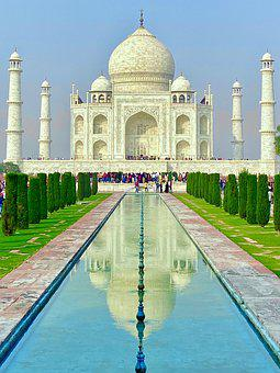 Taj Mahal, Agra, Architecture, Travel, Building, Taj