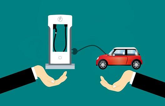 Tesla, Station, Charging, Electric, Car, Vehicle, Flat