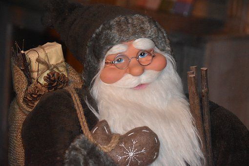 Good Christmas Man, White Beard, White Eyebrows