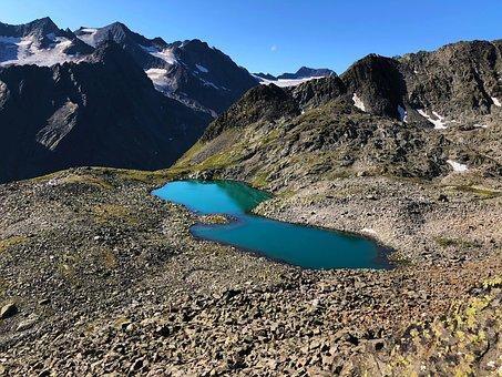 Shaped Glacial Lake, Bergsee, Alpine, Austria, Mountain