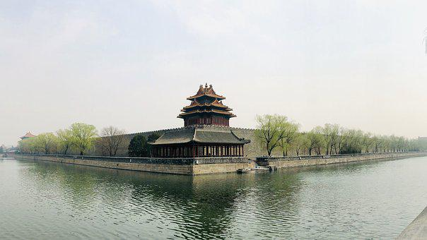 Beijing, City Moat, Spring, The National Palace Museum