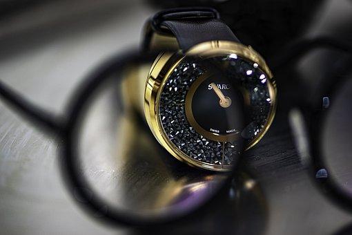 Watch, Eyeglasses, Black, Stylish, Fashion, Presence