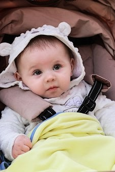 Baby, Stroller, Portrait, Curiosity, Debt
