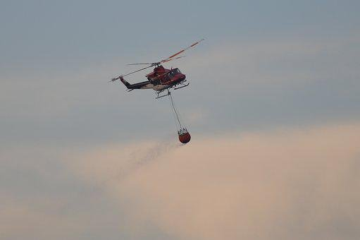 Helicopter, Firefighter, Rescue, Sky, Emergency, Flight