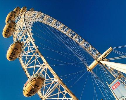 London, Eye, Ferris Wheel, England, Landmark