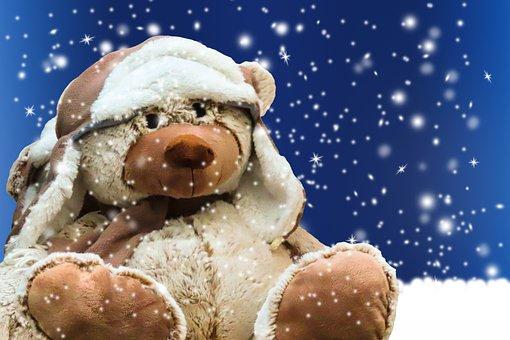 Craft, Figure, Teddy, Bear, Stuffed Animal, Cap, Season