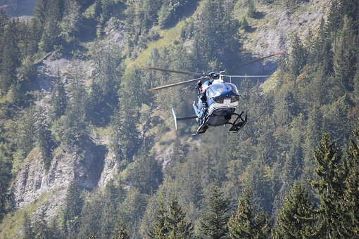 Helicopter, Fly, Flight, National Gendarmerie, Relief