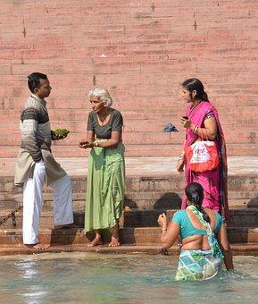 Asia, India, Haridwar, River, Hinduism, Religious