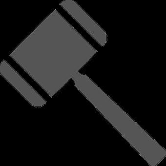 Symbol, Icon, Judge, Hammer, Jura, Attorney, Court