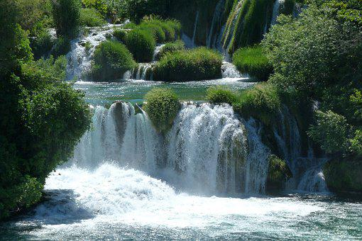 Waterfall, Krka, Croatia, Natural, Landscape, Tourism