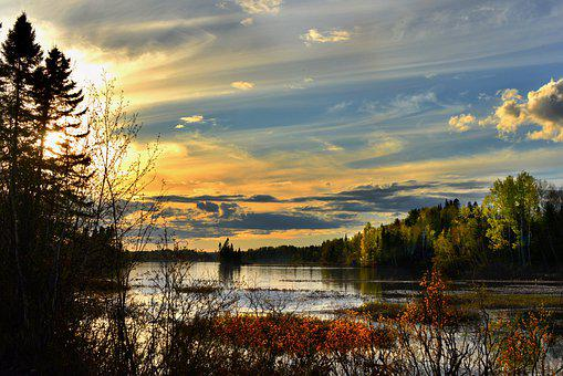 Landscape, Nature, Clouds, Sky, Colors, Lake, Water