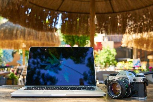 Computer, Laptop, Camera, Photographer, Photo, Movie